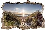 der Weg ins Meer Wanddurchbruch im 3D-Look, Wand- oder Türaufkleber Format: 92x62cm, Wandsticker, Wandtattoo, Wanddekoration