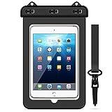 Yokata Wasserdichte Tasche Tablet iPad Universal Schutztasche bis 8 Zoll Wasserfeste Taschen Strand Schwimmen Transparen