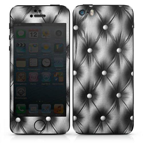 Apple iPhone 5c Case Skin Sticker aus Vinyl-Folie Aufkleber Sofa Leder Muster DesignSkins® glänzend