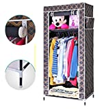 YOGERS 2.1 Feet Single Section Portable Dust   Water Proof Wardrobe Creative Printed Cabinet,Easy Installation Folding Wardrobe Cupboard Almirah Folda available at Amazon for Rs.949