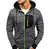 ITISME Herren Pullover Herren Hoody Zipper Slim Hoodies Sweatshirts Pullover Mantel Jacke (Large, Grün)