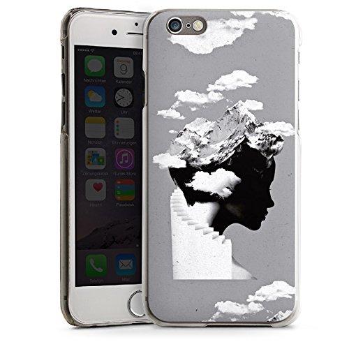 Apple iPhone 5s Housse Étui Protection Coque Silhouette Tête Nuages CasDur transparent