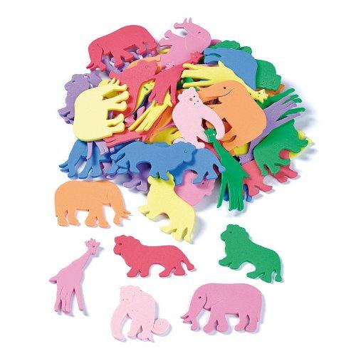 Knorr Prandell 4–5cm Tafelbesteck Schaumstoff Gummi Tiere, mehrfarbig