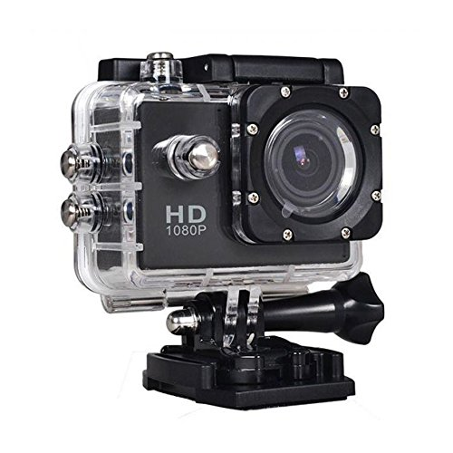 """Hamee 1080P, 2"""" LCD Screen, 30M Waterproof Full HD Wide Angle Lens Extreme Sports Helmet Mini Camcorder Recorder Action Camera"""
