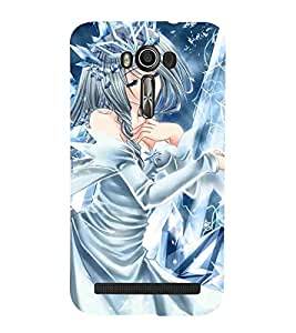 Cartoon, Blue, Cartoon and Animation, Printed Designer Back Case Cover for Asus Zenfone 2 Laser ZE601KL (6 Inches)