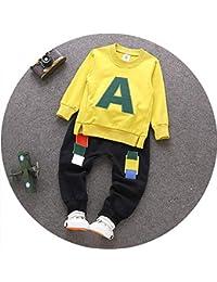 ZWS sorridi I Bambini Sono Autunno Completo Crash Colori Maglione Lettere 1-3 Anni Cappuccio Pantaloni Vestito