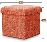 YZjk Esponja Almacenamiento multifuncional Taburete de almacenamiento Moda moderna Sofá creativo Simple Sala de Estar Taburetes de dormitorio Zapatos Taburete de repuesto (Color: gris)