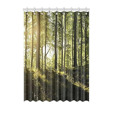 Custom Forest (1) Rideau de fenêtre 127cm (L) x 274,3cm (H) souple étanche Tissu Polyester, écoute, impression d'un style monobloc (9trous), Polyester, Forest(2), 50x108(inches)