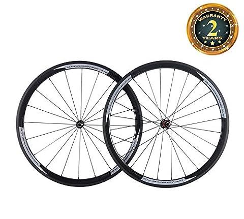 WINDBREAK BIKE Carbon Road 38mm Clincher Wheelset 23mm Width Wheel with Chosen Hub