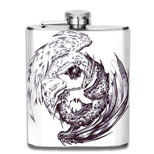Petacas Presock Petacas Surfboards and Elephant Floral Outdoor Portable 304 Stainless Steel Leak-Proof Alcohol Whiskey Liquor Wine 7OZ Pot Hip Flask Travel Camping Flagon for Man Woman Flask Great Little Gift