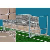 Red de fútbol - Par de redes de fútbol 7 serie estándar. Polietileno 3 mm Ø (Portería plegable)