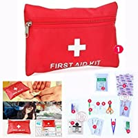 Cisixin Mini Botiquín de Primeros Auxilios, 14 Pieza Ligera y Médico Duradero Trauma Kit de Viaje en Coche Deportes Senderismo Supervivencia de la Emergencia