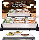 HOMEFRONT 2 in 1 X LARGE PRO-SERIES BUFFET/HOT TRAY FOOD SERVER