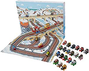 Thomas and Friends Xmas Advent Calendar - Contains 24 Toy Train Engine Minis - Fisher Price Playset
