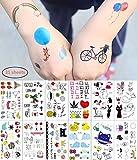 31 Hojas de Tatuajes Temporales para Niñas y Niños, Tatuajes para Recompensas Escolares Juegos Familiares Divertidos, Regalos para Niños Decoraciones para Fiestas No Tóxicos