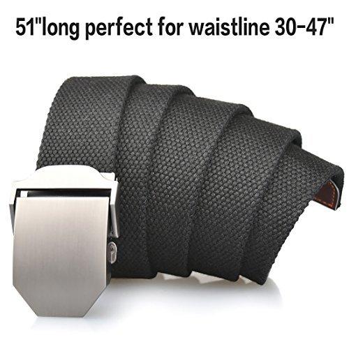Cintur/ón Lona Hombre Militar Tactico Policia Negro Cintur/ónes Ocasional Todo-F/ósforo Correa Hombres Cintur/ón 130cm Largo