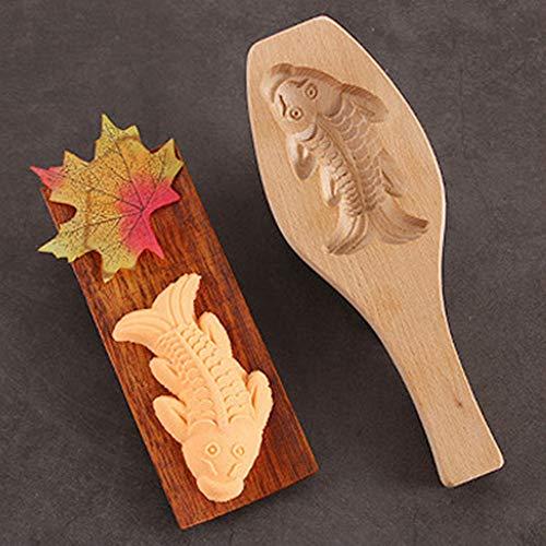 (TianranRT Blume Formen handgemacht Umwelt aus Holz Mooncake Schimmel für Eis Herstellung (C))