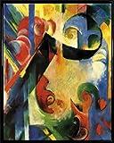 Franz Marc Poster Kunstdruck und Kunststoff-Rahmen - Zerbrochene Formen, 1914 (50 x 40cm)