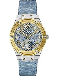 Guess Damen-Armbanduhr Analog Quarz Leder W0289L2