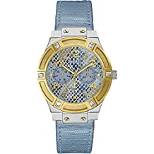Guess W0289L2 - Reloj de pulsera para mujer, color blanco / plata