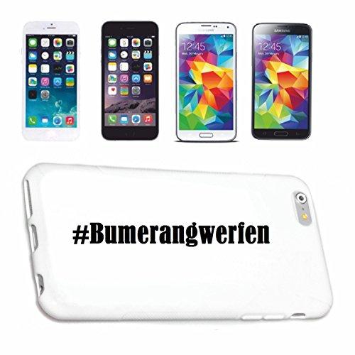 Handyhülle Huawei P9 Hashtag ... #Bumerangwerfen ... im Social Network Design Hardcase Schutzhülle Handycover Smart Cover für Huawei P9 … in Weiß … Schlank und schön, das ist unser HardCase. Das Case wird mit einem Klick auf deinem Smartphone befestigt