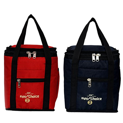 Right Choice Coambo Offer Lunch Bags (BLACK RED) Branded Premium Quality Carry on Tote for School Office Picnic Travel Camping Outdoor Pouch Holder Handbag Compact Heat Preservation Waterproof Hygiene