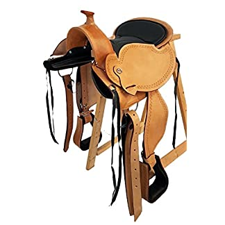 'michigan' eco tree free western saddle buffalo leather with velcro cushion 'Michigan' Eco Tree Free Western Saddle Buffalo Leather with Velcro Cushion 51NPvwuW8pL
