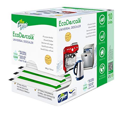 EcoDescalk Universal Biologico in Polvere, 10 Sacchetti. Decalcificante 100{1c3cf8edf9ca67fe268ada969bbb0f13d81ca15748ed23b9d4f9a7836e5843ee} Naturale. Detergente per Bollitori, Lavatrici, Lavastoviglie. Prodotto CE.