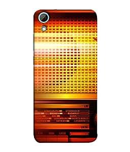 FUSON Designer Back Case Cover for HTC Desire 830 :: HTC Desire 830 Dual Sim (Blur Music Background With Retro Radio Antique )