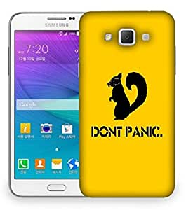 Snoogg Don'T Panic Designer Protective Back Case Cover For Samsung Galaxy Grand Max G7200