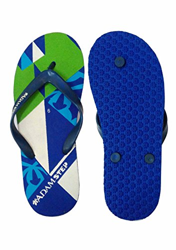 Adam Step Men Flip Flop House slipper And Hawaai Chappal - Blue  available at amazon for Rs.119