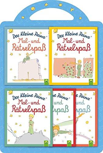 Der Kleine Prinz - Mal- & Rätselspaß: 5 Minibücher (Der Kleine Prinz Malbuch)