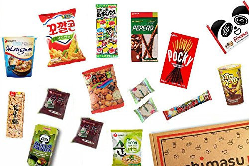 Asian Snack Box / Hamper by Chimasu (Includes Japanese, Korean, Chinese Snacks and more) (Chimasu Box - Variety 1 (Original Box))