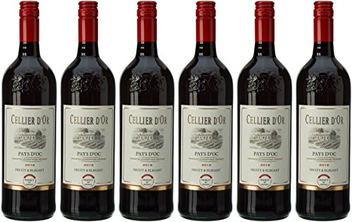 Cellier d'Or Vin Rouge 100 cl - Lot de 6
