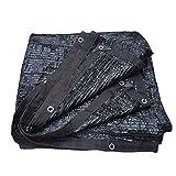 WJX Voile D'ombrage, Bloc De Soleil Soleil Réflexion Ombre pour Animaux De Compagnie Ombrage Auvent Rectangulaire Parapluie 70% (Color : Black, Size : 6x6m)