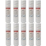 Filtri Acqua Italia Cartuccia Filtro Filo Avvolto 10 Pollici Micron 5 Polipropilene Sedimenti, Set 10 pezzi