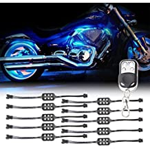 10 Kit LED RGB Pods Accent al neon di incandescenza Remote Multi-color per Kit luce roccia motociclo del camion dell'automobile LED