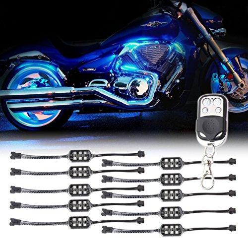 Preisvergleich Produktbild 10 Pods RGB Accent LED Light Kit Glow Neon Fernmehrfarben für LKW-Auto-Motorrad-LED-Felsen-Licht-Kit