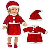 JIUZHOU Bestes Online Spielzeug-Shop Weihnachtskleidung Kleid Hut für 45,7 cm American Boy Puppe...