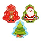 Assorted Melamine Christmas Tree Trays 32cm - Set of 3 by Christmas Time