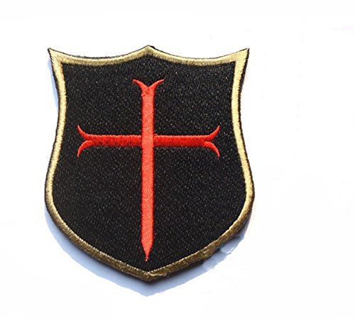Ritter Paintball (Crusader Kreuz Templer Ritter bestickt Softair Paintball Patch)
