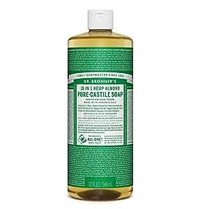 Dr Bronner Almond Castile Liquid Soap 1000ml