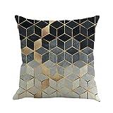 Kissenbezug 45cm x 45cm Farbiges abstraktes Geometrie Flachs Schlafsofa Home Decor kissenhülle...