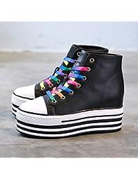 KPHY-Bizcocho Con El Otoño Y El Invierno Nuevos Zapatos De Mujer Calzado Casual La Correa De Sujeción Bizcocho...