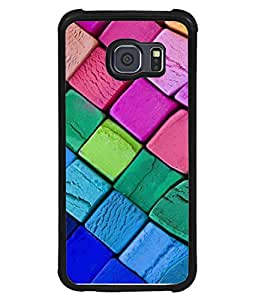 PrintVisa Designer Back Case Cover for Samsung Galaxy S6 Edge :: Samsung Galaxy S6 Edge G925 :: Samsung Galaxy S6 Edge G925I G9250 G925A G925F G925Fq G925K G925L G925S G925T (Hot eye catcher Blue pink shades)