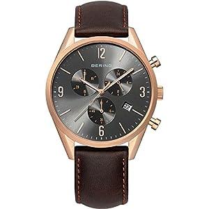 Bering Time 10542-562 - Reloj de pulsera hombre, Cuero, color Marrón de Bering Time