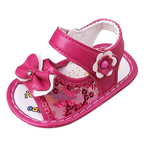 Clode® Baby Bowknot Sandalen Schuh Casual Schuhe Anti-Rutsch Soft Sole Kleinkind Hot Pink