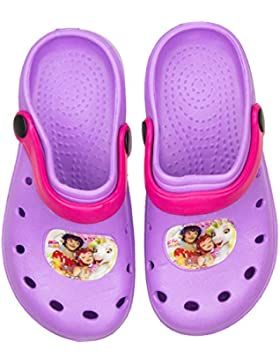 Mia And Me Kinder Badesandalen Badeschuhe Clogs in Lila mit tollem Mia And Me-Motiv