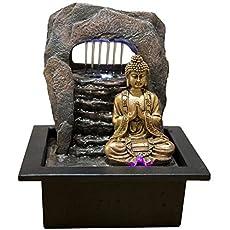 Zen'Light Fuente Zen Dao Resina, Bronce, 21 x 17 x 25 cm