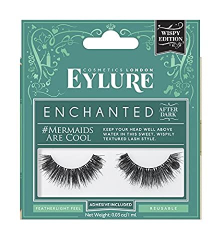 Eylure After Dark - Collection Enchanted - Cils Réutilisables - Les Sirènes sont Cool (Adhésif Inclus)